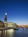 England, London, Southwark, River Thames and London Skyline at Sunset Photographic Print by Steve Vidler