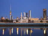 Kuwait, Kuwait City, City Skyline Reflecting in  Harbour Photographic Print by Jane Sweeney