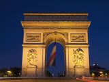 France, Paris, Arc De Triomphe Photographic Print by Steve Vidler