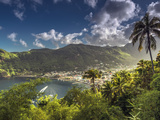 Caribbean, St Lucia, Soufriere, Soufriere Bay Photographic Print by Alan Copson
