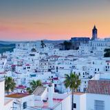Spain, Andalucia, Cadiz Province, Vejer De la Frontera Fotografiskt tryck av Alan Copson