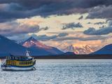 Chile, Magallanes Region, Puerto Natales, Seno Ultima Esperanza Bay, Tour Boat Photographic Print by Walter Bibikow