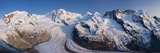 Monte Rosa Range and Gornergletscher, Zermatt, Valais, Switzerland Photographic Print by Jon Arnold
