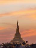 Myanmar (Burma), Yangon, Shwedagon Pagoda Papier Photo par Steve Vidler