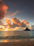 USA, Hawaii, Oahu, Kualoa Beach Park, Mokolii Island (Chinaman's Hat) Photographic Print by Michele Falzone