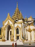 Myanmar (Burma), Yangon, Entrance To the Shwedagon Pagoda Photographic Print by Steve Vidler