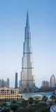 Burj Khalifa (World's Tallest Building), Downtown, Dubai, United Arab Emirates Fotodruck von Jon Arnold
