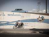 Revolutionary Slogan, Habana Vieja, Havana, Cuba Photographic Print by Jon Arnold