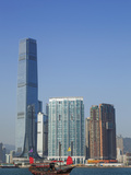 China, Hong Kong, Kowloon Skyline and International Commerce Centre Building (ICC) Photographic Print by Steve Vidler
