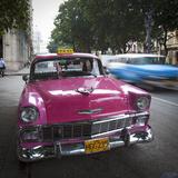 Classic American Car (Chevrolet), Paseo Del Prado, Havana, Cuba Photographic Print by Jon Arnold