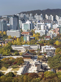 Elevated View Over Deoksugung Palace, Gwanghwamun, Seoul, South Korea Photographic Print by Gavin Hellier