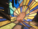 Light Falling Through Stained Glass Window, in a Casa in Habana Vieja, Havana, Cuba Photographic Print by Jon Arnold