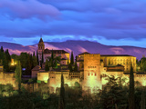 Spain, Andalucia, Granada Province, Granada, Alhambra from Sacromonte Hill Fotodruck von Alan Copson