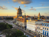 Capitolio and Parque Central, Havana, Cuba Photographic Print by Jon Arnold
