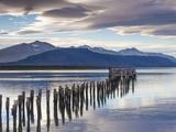 Chile, Magallanes Region, Puerto Natales, Seno Ultima Esperanza Bay, Landscape Photographic Print by Walter Bibikow