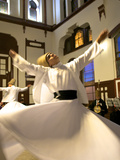 Whirling Dervishes, Istanbul, Turkey Reproduction photographique par Neil Farrin