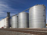 USA, Nebraska, Gothenburg, Grain Elevator Photographic Print by Walter Bibikow