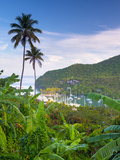 Caribbean, St Lucia, Marigot, Marigot Bay Photographic Print by Alan Copson