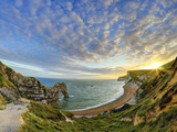 UK, Dorset, Jurassic Coast, Durdle Door Rock Arch Photographic Print by Alan Copson