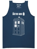 Tank Top: Doctor Who - Linear Tardis Shirts