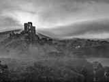 UK, England, Dorset, Corfe Castle at Sunrise Photographic Print by Alan Copson