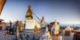 Nepal, Kathmandu, Swayambhunath Stupa Fotodruck von Michele Falzone