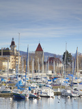 Ouchy Harbour, Lausanne, Vaud, Switzerland Photographic Print by Ian Trower