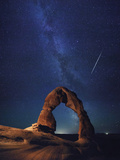 USA, Utah, Moab, Arches National Park, Delicate Arch and Milky Way Photographic Print by Michele Falzone