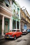 Classic American Car (Plymouth), Havana, Cuba Photographic Print by Jon Arnold