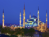 Blue Mosque at Dusk, Istanbul, Turkey Photographic Print by Neil Farrin