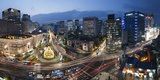 Elevated View Over Fountain Square, the Bank of Korea, Financial District, Seoul, South Korea Photographic Print by Gavin Hellier