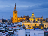 Spain, Andalucia, Seville Province, Seville,  Cathedral of Seville, the Giralda Tower Photographic Print by Alan Copson
