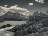 Chile, Magallanes Region, Torres Del Paine National Park, Lago Pehoe, Explora Hotel Photographic Print by Walter Bibikow