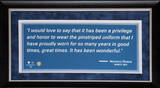 Framed Mariano Rivera Quote (unsigned) Framed Memorabilia