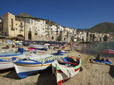 Fishing Boats, Cefalu, Sicily, Italy Photographic Print by Katja Kreder
