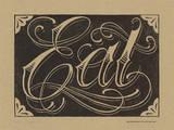 Eat (Black) Letterpress Print by  Roll & Tumble Press