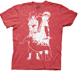 Naruto - Naruto And Sasuke Outline T-shirts