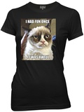 Juniors: Grumpy Cat - I Had Fun Once Shirt