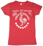 Juniors: Sriracha - Bottle Label T-Shirt
