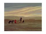 Herding Camel Train, Inner Mongolia Giclee Print by Vincent Haddelsey