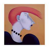 Women in Profile Series, No. 9, 1998 Giclee Print by John Wright