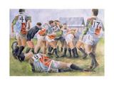 Rugby Match: Harlequins v Wasps, 1992 Reproduction procédé giclée par Gareth Lloyd Ball