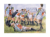 Rugby Match: Harlequins v Wasps, 1992 Giclee Print by Gareth Lloyd Ball