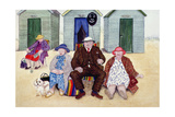 On the Beach Giclee Print by Gillian Lawson