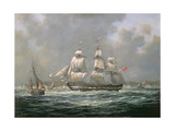 "East Indiaman H.C.S. ""Thomas Coutts"" Off the Needles, Isle of Wight Giclee Print by Richard Willis"