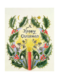 A Happy Christmas Giclee Print by Ursula Hodgson