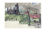 Millworkers Landscape, C.1920 Giclee Print by John Northcote Nash