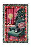 Cat's Christmas Giclee Print by Lavinia Hamer