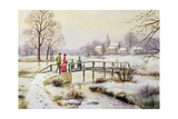 Footbridge in Winter Giclee Print by Stanley Cooke