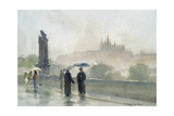 Umbrellas, Charles Bridge, Prague Giclee Print by Trevor Chamberlain